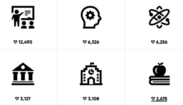 Academy free icon set