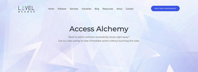 Access Alchemy is an automated accessibility testing tool that deploys automated fixes to common issues-1