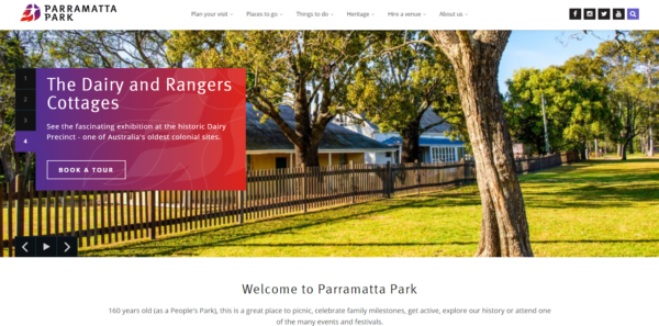 accessible graphic design example parramatta park