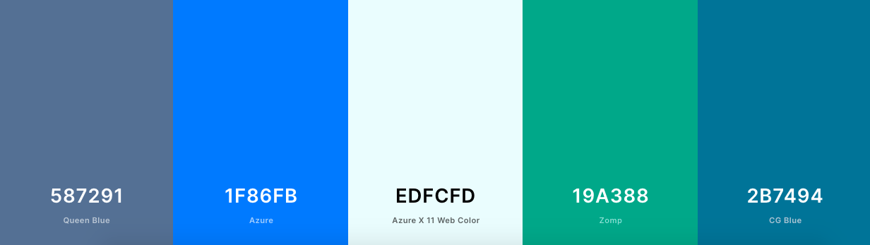 Accessible color palette with blue and green shades-1