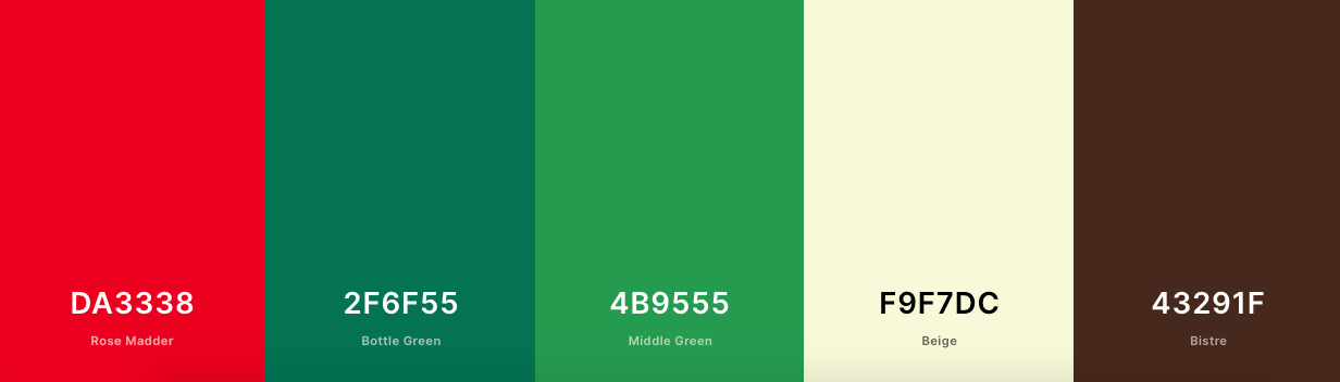 Accessible color palette with red, green, cream, and brown shades-1
