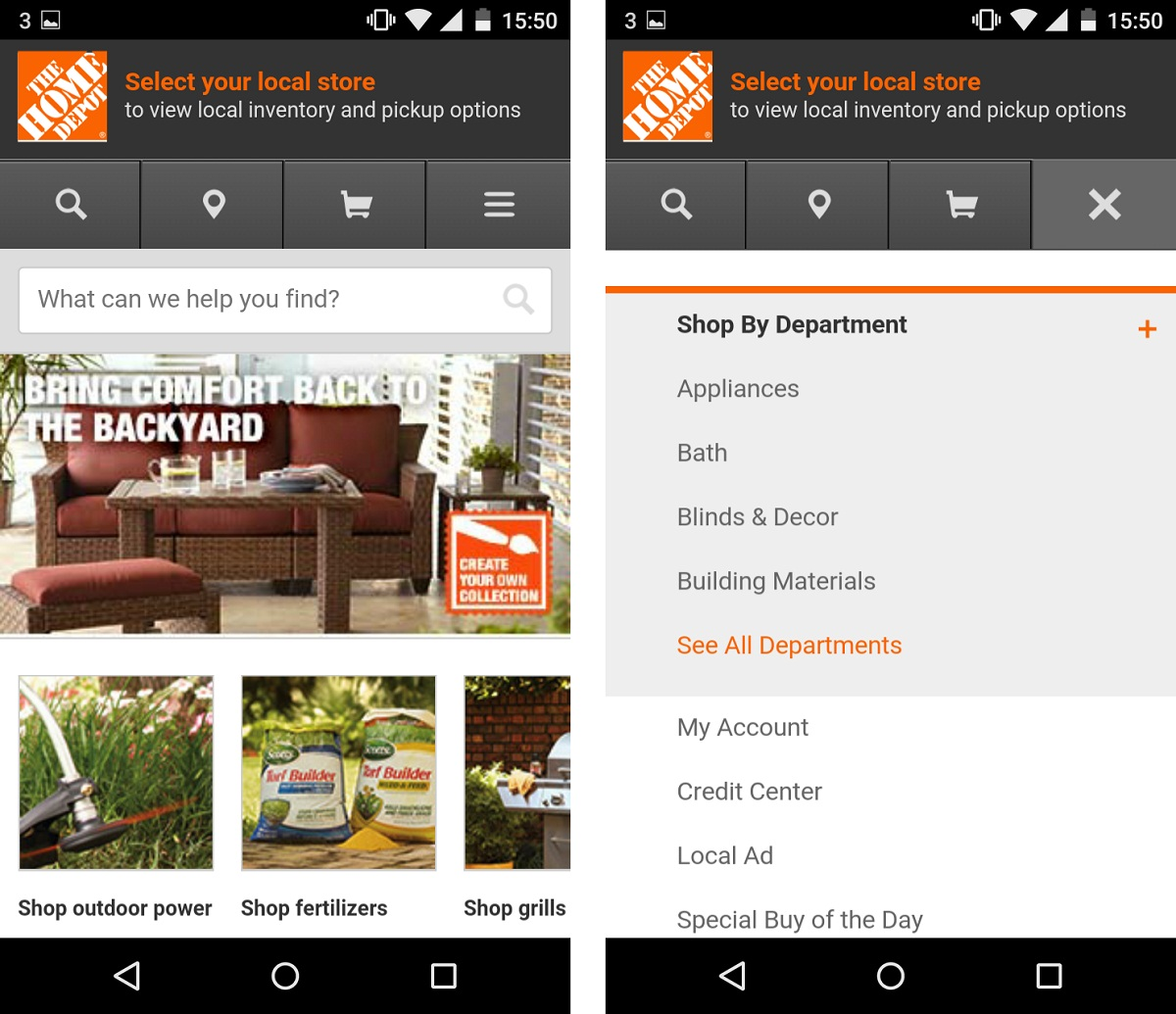 the home depot adaptive design example