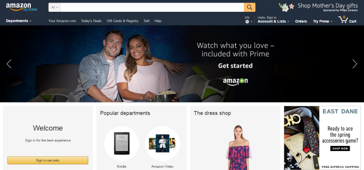 amazon adaptive design example