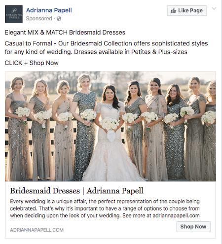 Adrianna Papell Facebook Ad