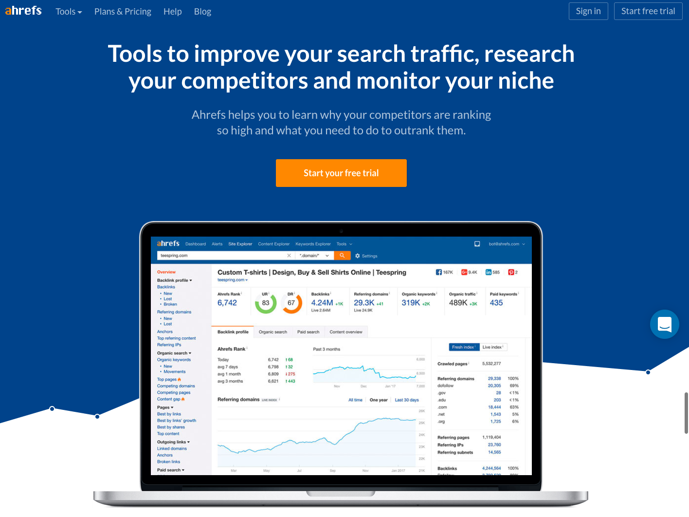 Ahrefs-homepage-design.png  20 of the Best Website Homepage Design Examples Ahrefs homepage design