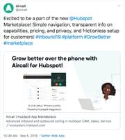 Aircall Tweet