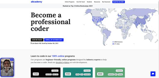 best online coding bootcamp: Altacademy