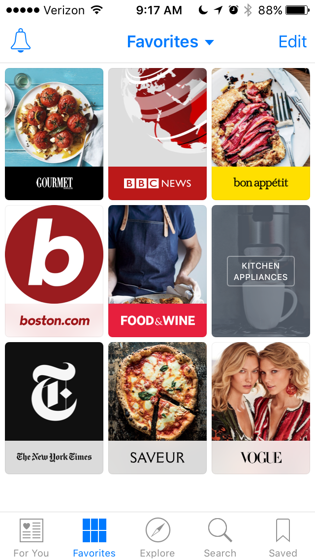 Apple News mobile app for staying updated on the latest news while commuting