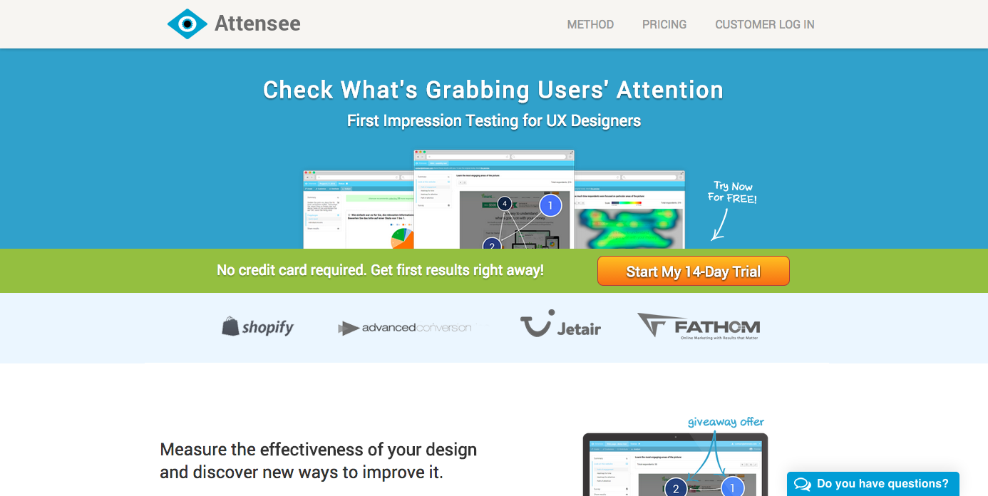 Homepage of Attensee