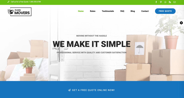 Avada theme to create a static website using WordPress