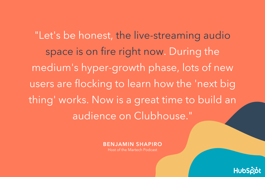 Ben Shapiros take on podcasts versus Clubhouse. He believes Clubhouse is on fire right now.