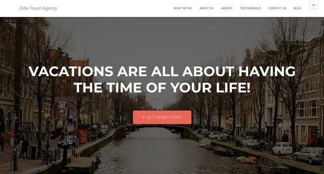 Best Parallax WordPress theme Hestia Pro demo