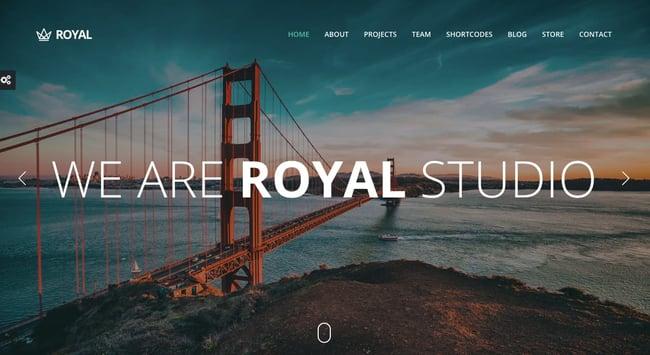 Best Parallax WordPress theme Royal