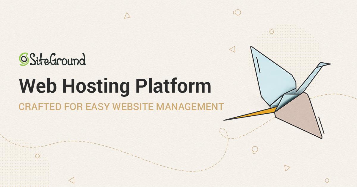 siteground blog hosting service