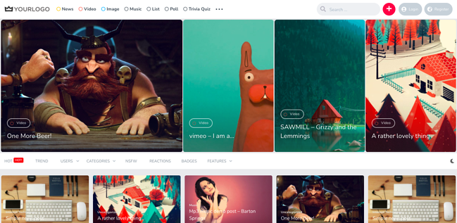 Best content sharing WordPress theme King features content slider and videos