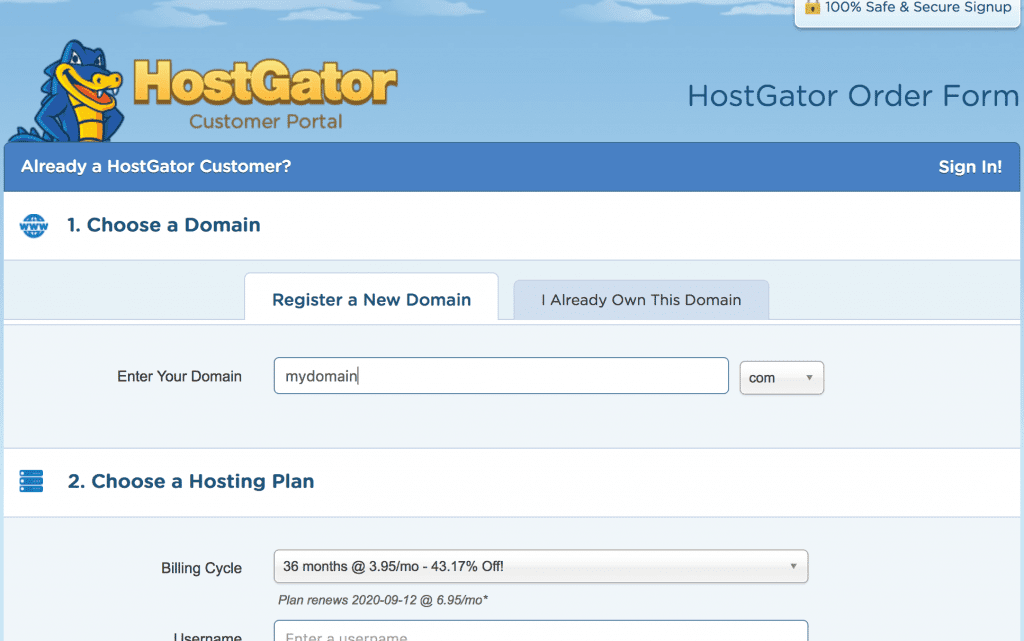 best domain registrars hostgator