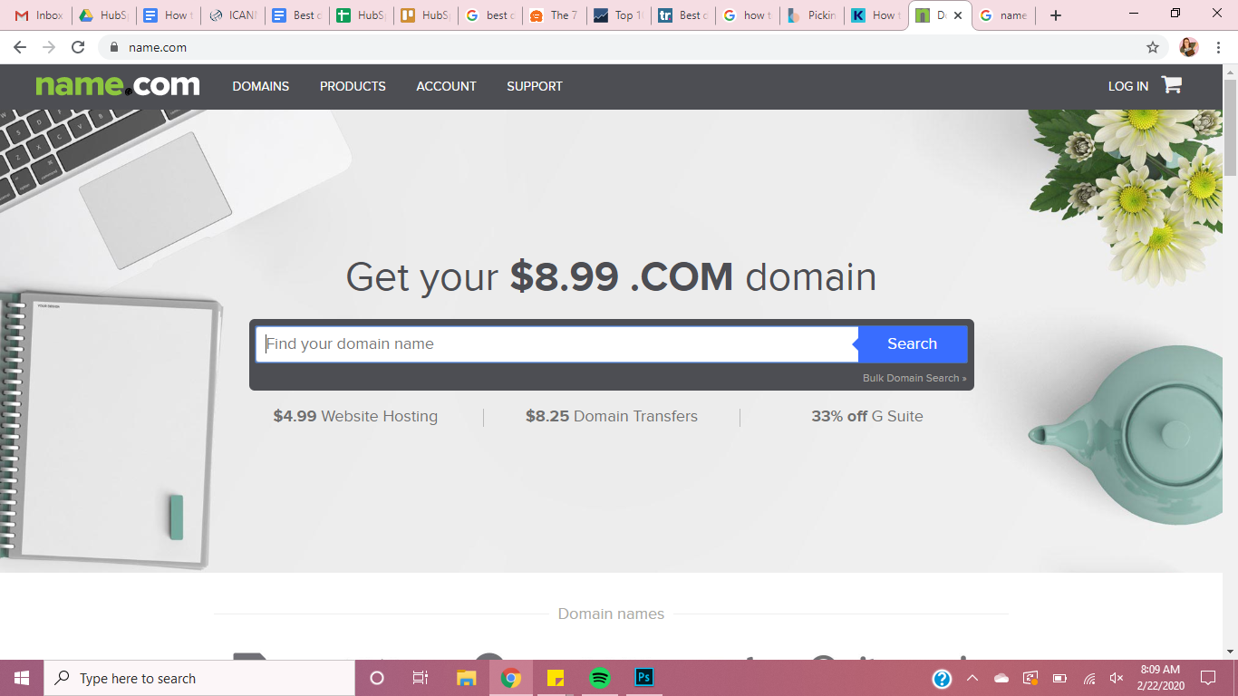 best domain names name.com