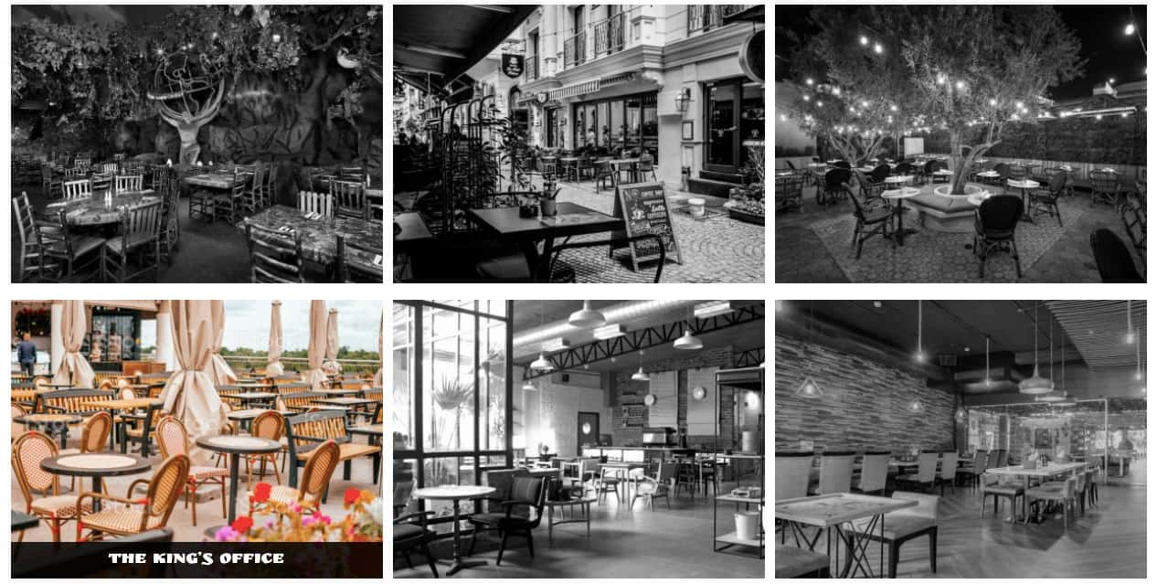 Black and white image gallery that reveals color when user hovers over image created with Portfolio Designer