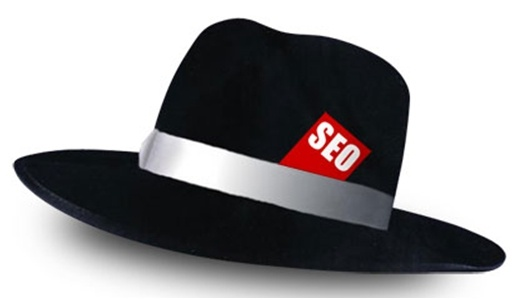 Black hat with SEO label on top