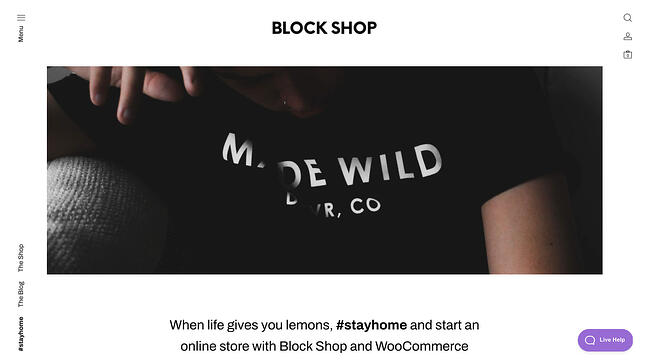 Block Shop is a WordPress ecommerce theme with a simple and minimalist design