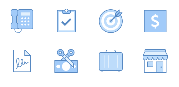 Blue UI free icon set