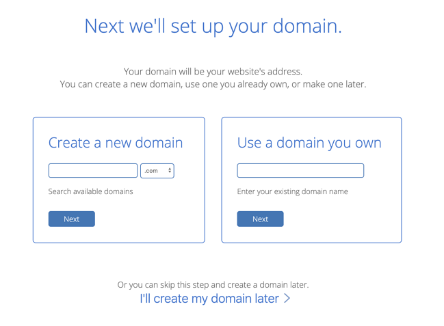 Bluehost login page for the WordPress website