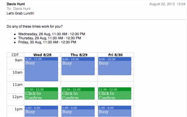 Boomerang Calendar Scheduling Groups
