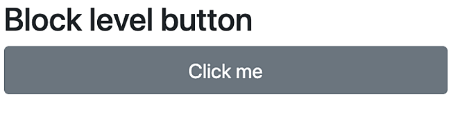 Bootstrap block level button takes up entire line space