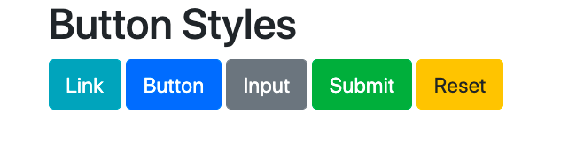 Bootstrap button styles applied to <button>, <a>, and <input> elements example-n