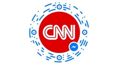 Facebook Messenger bot discovery button for CNN