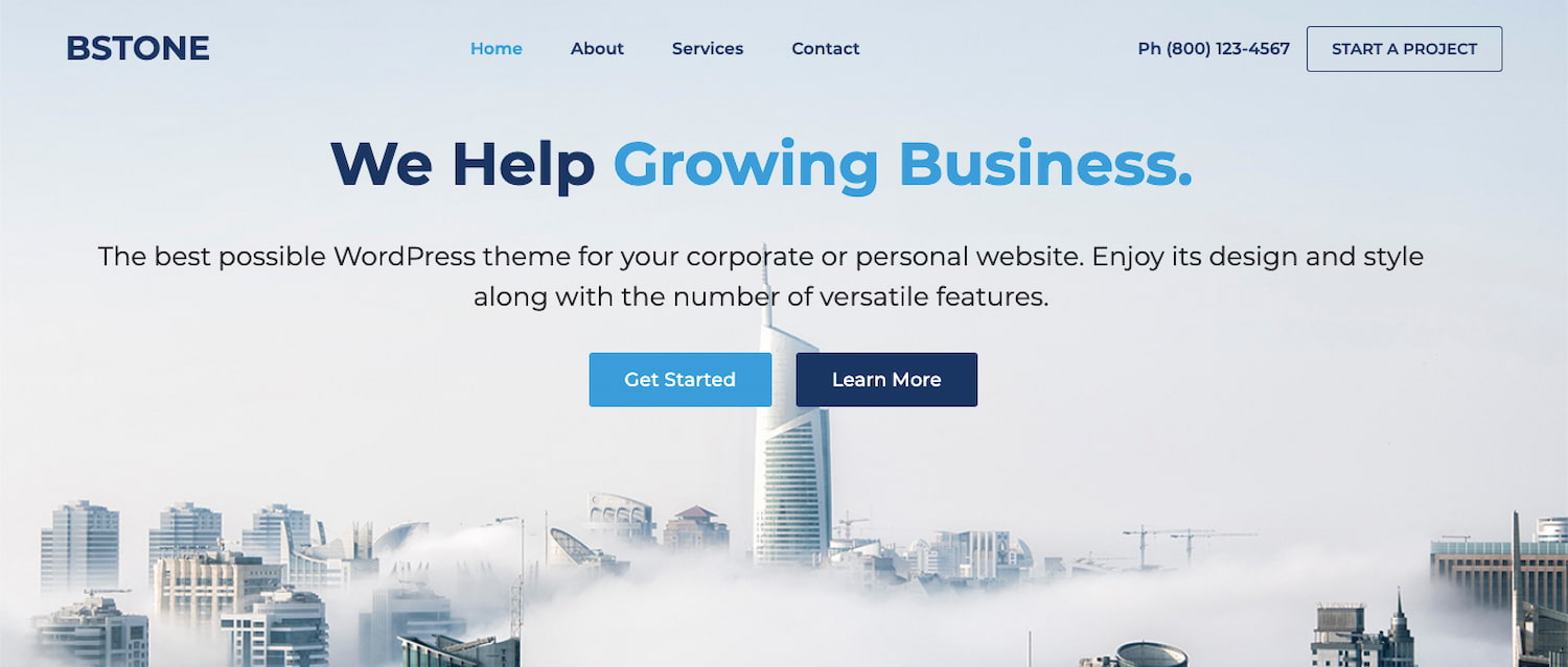 Bstone theme demo for businesses using BuddyPress plugin to add community forum