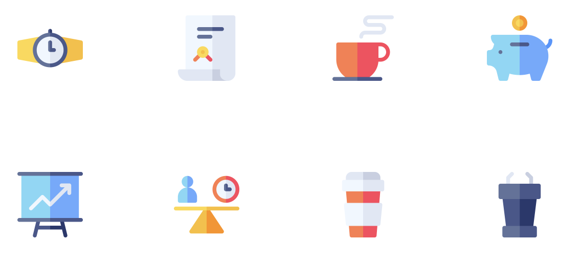 Business free icon set
