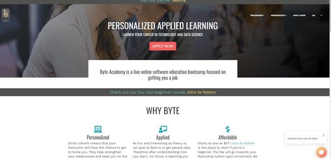 best online coding bootcamp: Byte Academy