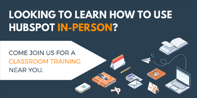 HubSpot classroom training listing of dates
