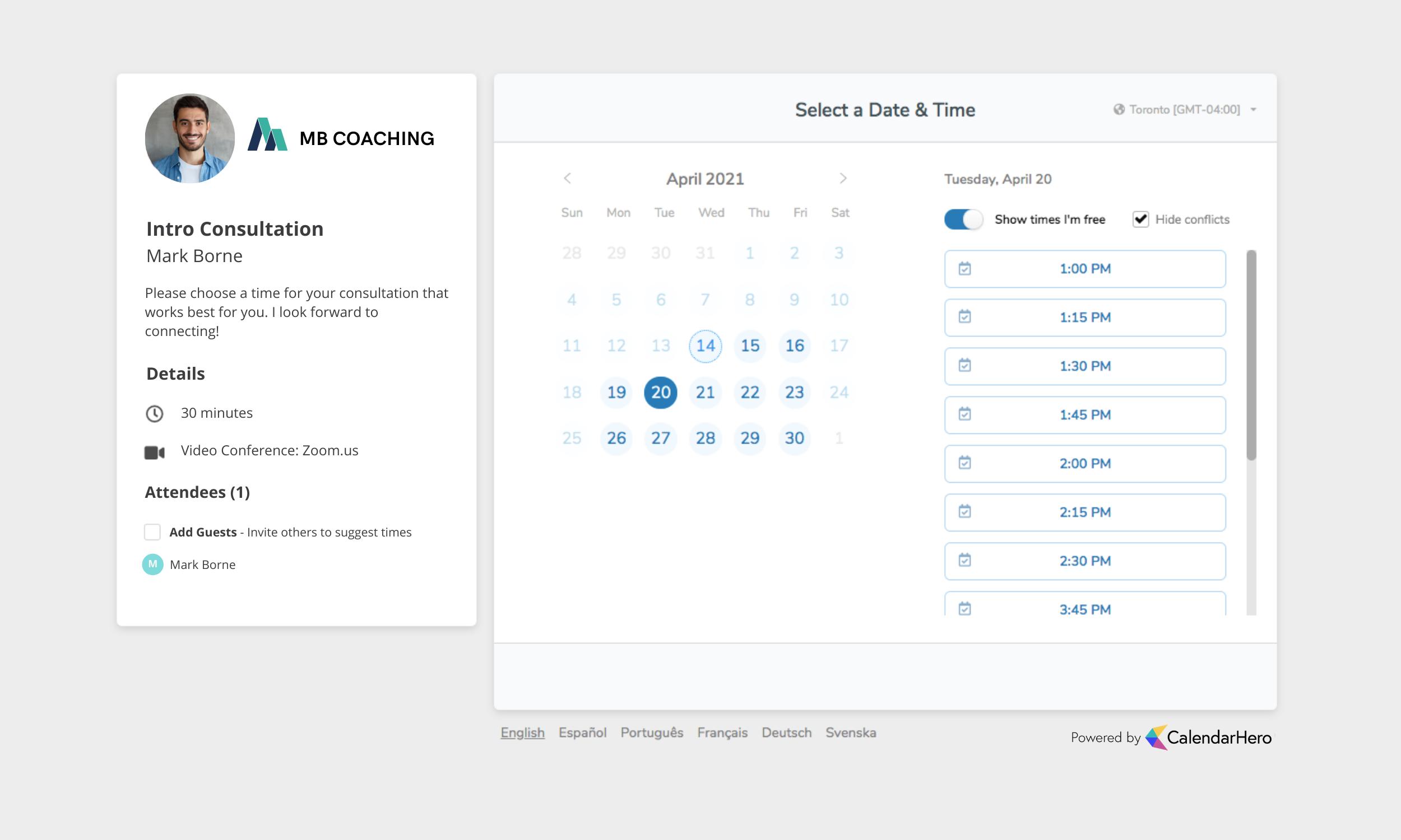 Calendar - Invitee Scheduling UI  (1)