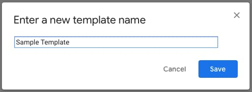 Save your canned response template name