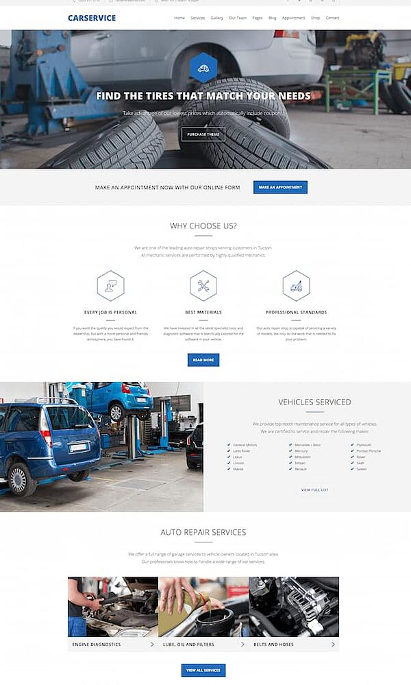 Car Service WordPress Theme demo