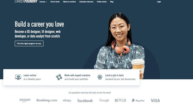 best online coding bootcamp: CareerFoundry
