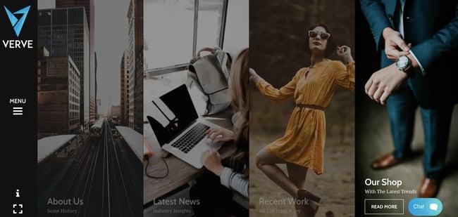 creative wordpress themes: Verve