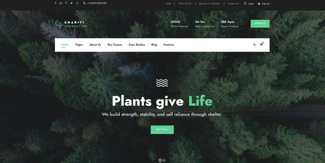 Chariti WordPress theme for nonprofit organizations