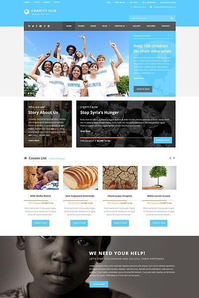 Charity Hub WordPress theme for nonprofit organizations
