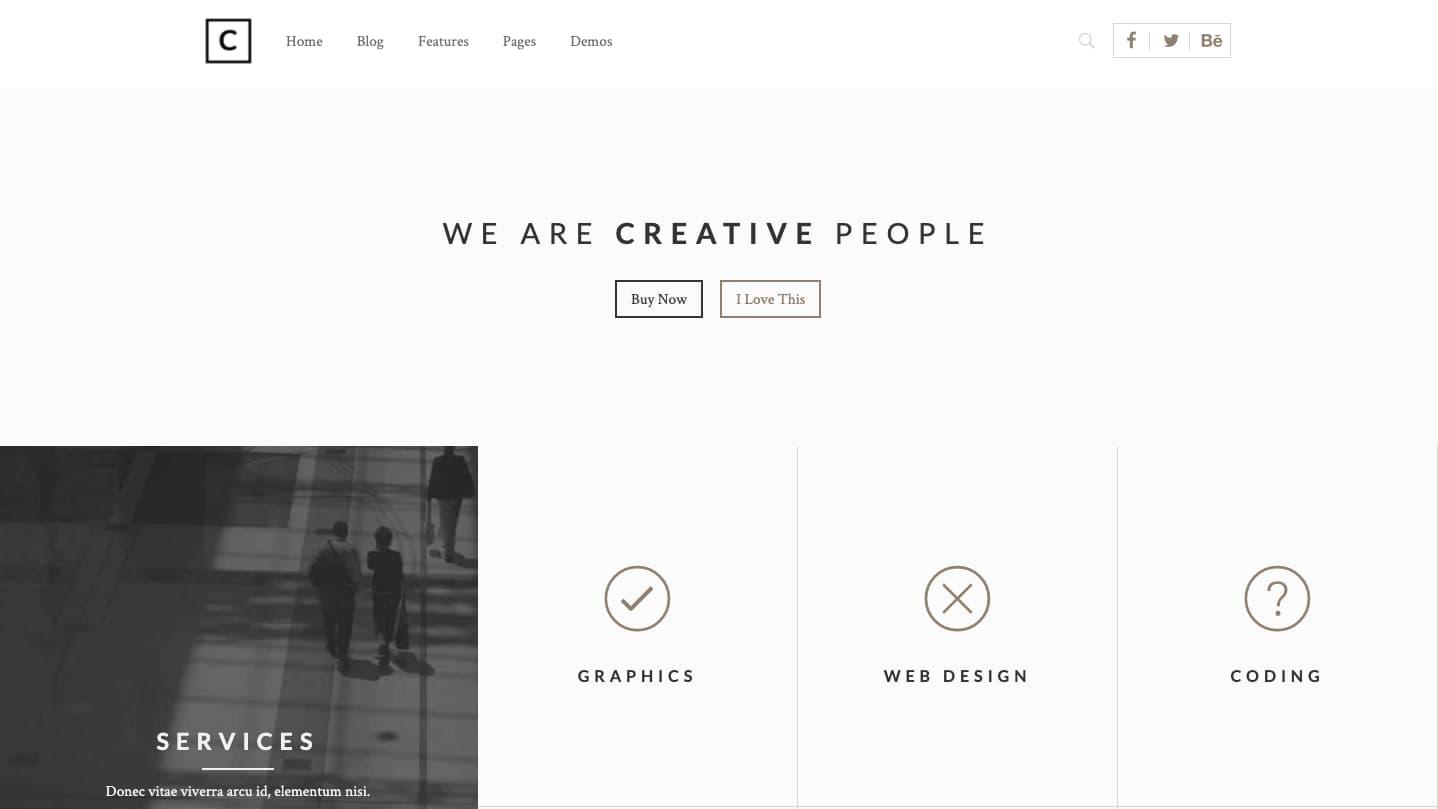 creative wordpress themes: Choco