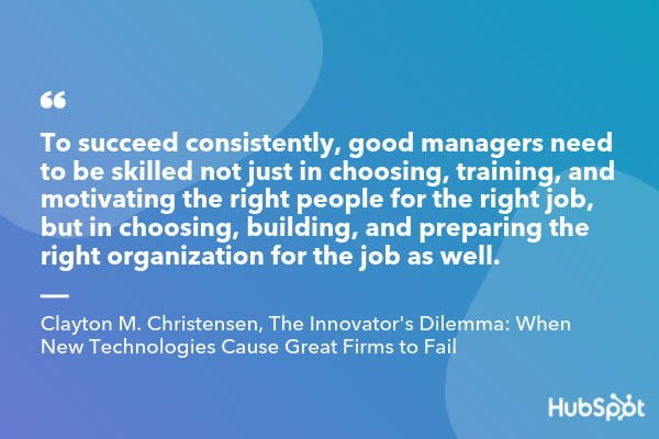 Clayton M. Christensen quote from The Innovator's Dilemma When New Technologies Cause Great Firms to Fail