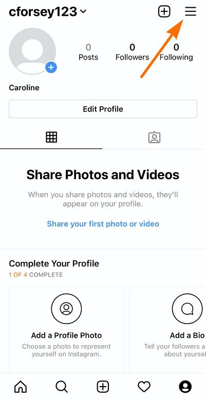In the Instagram app, at the top right of your screen, click Settings on Instagram