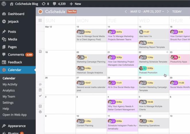 CoSchedule Wordpress-project-management-plugin
