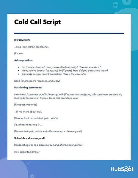 The Best Cold Call Script Ever [Template]
