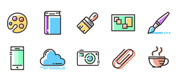 Colored Line free icon set