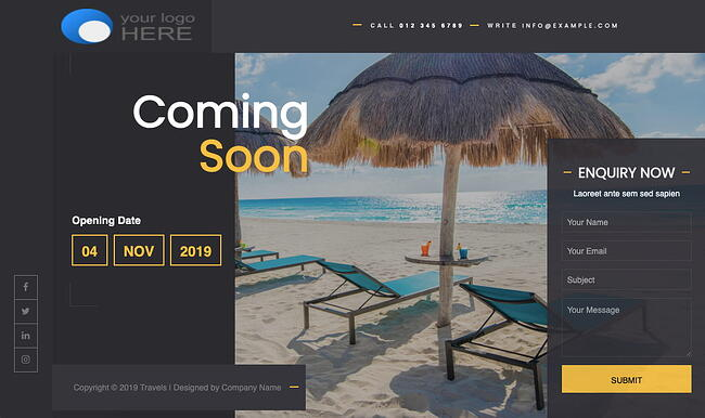 Coming Soon Light WordPress theme for under construction site
