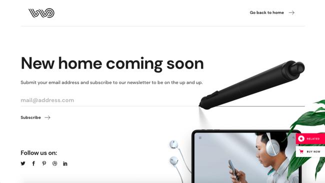 Coming soon demo of WebOn WordPress theme