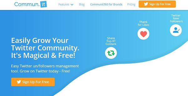 Commun.it app for growing Twitter presence